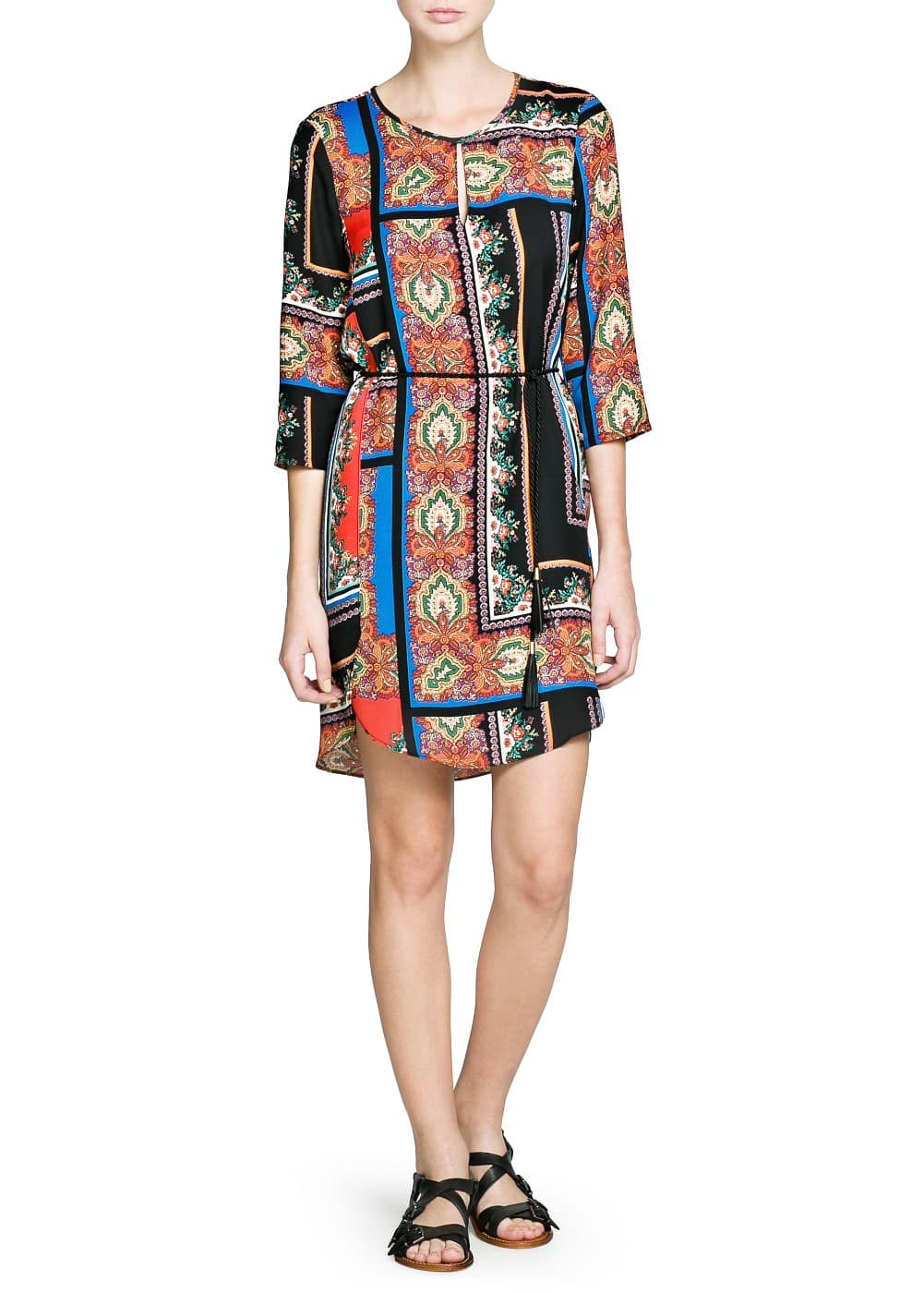 Scarf print dress | MANGO