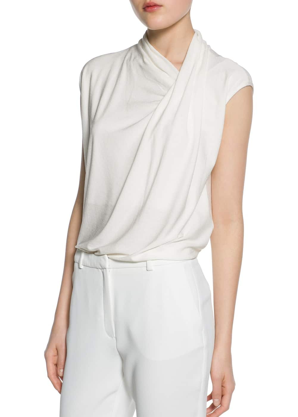 Draped top | MANGO