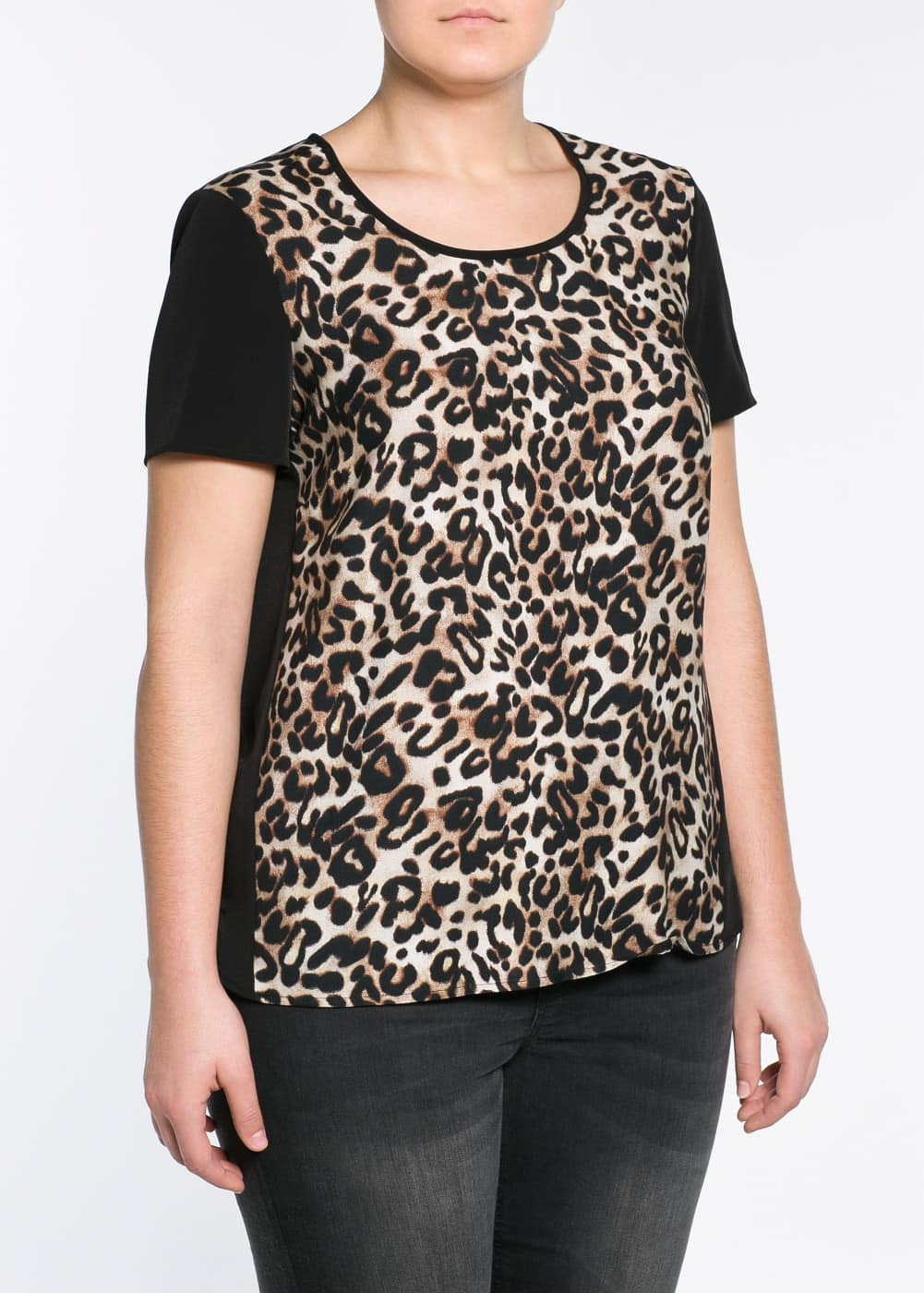 Top estampado leopardo