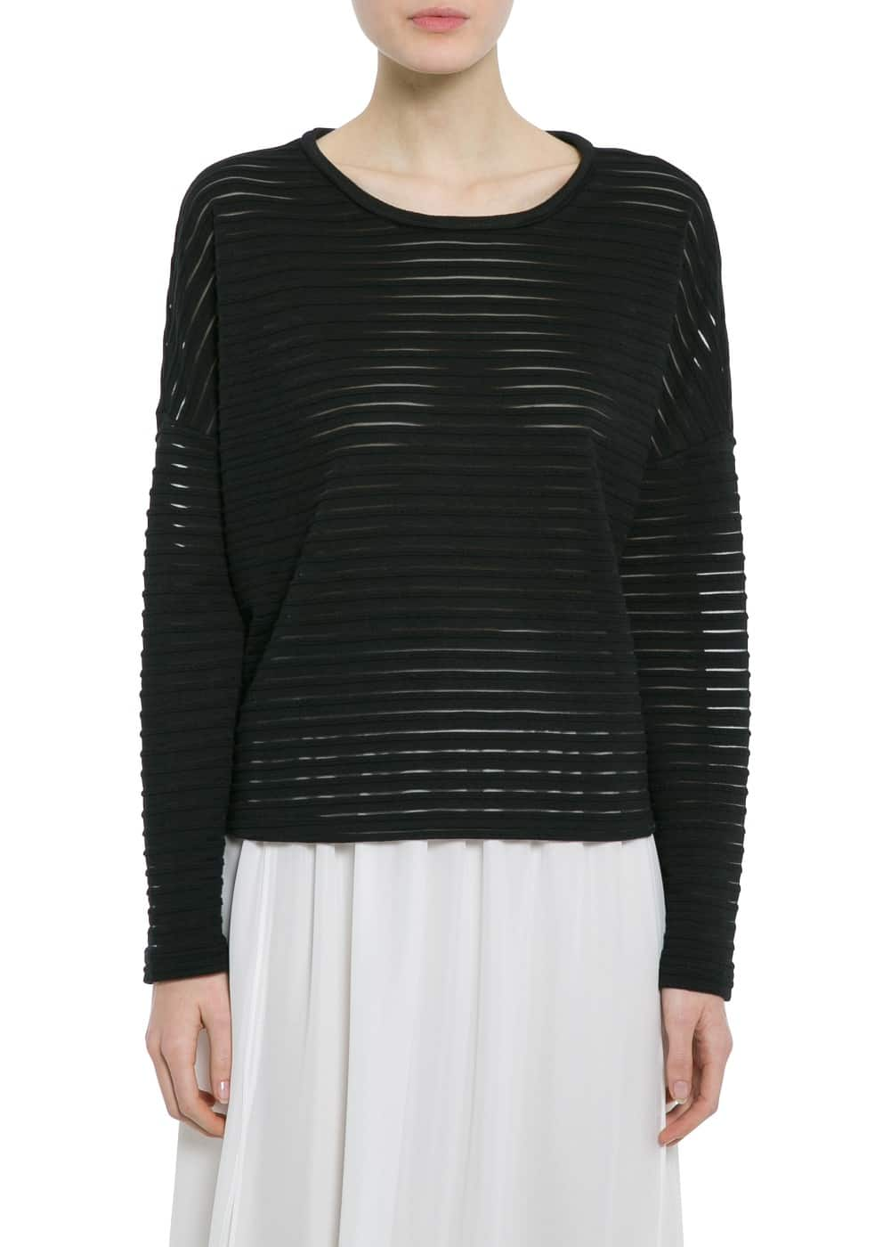 Stripe texture t-shirt