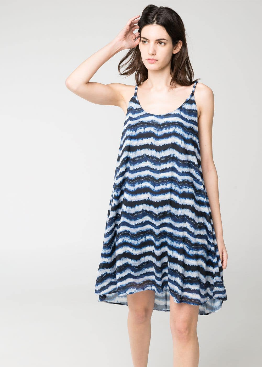 Tie-dye striped dress