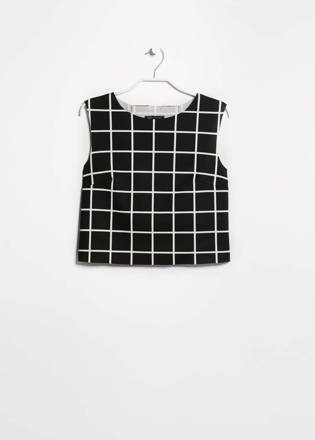 Check ponte top | MANGO