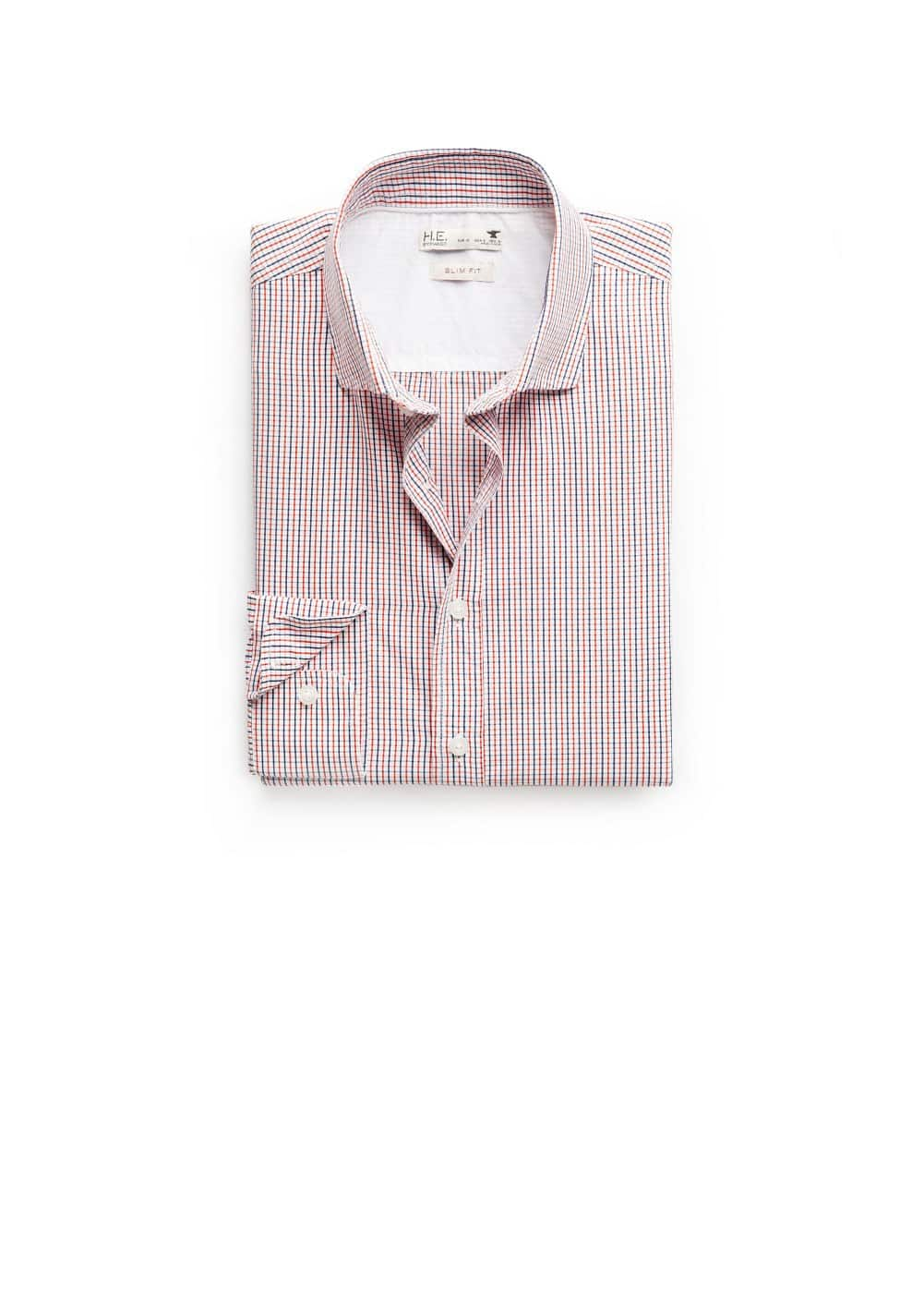 Camisa slim-fit cuadros | MANGO MAN