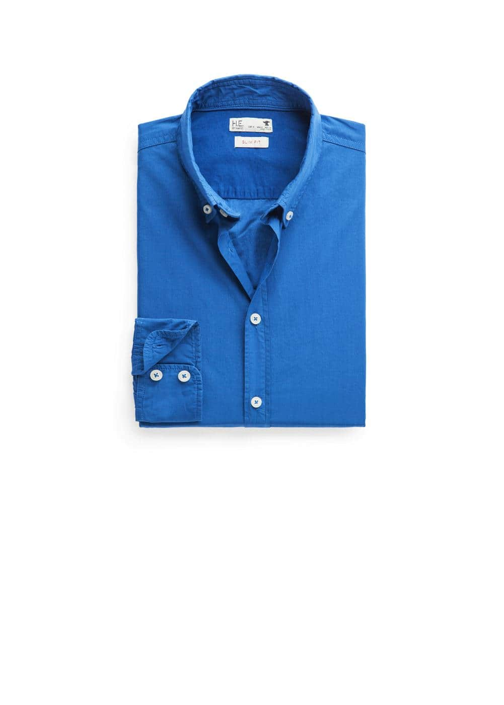 Slim-fit cotton shirt