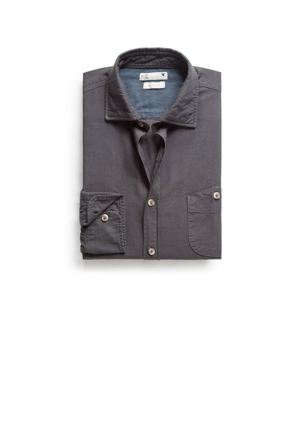Slim-fit oxford shirt | MANGO MAN