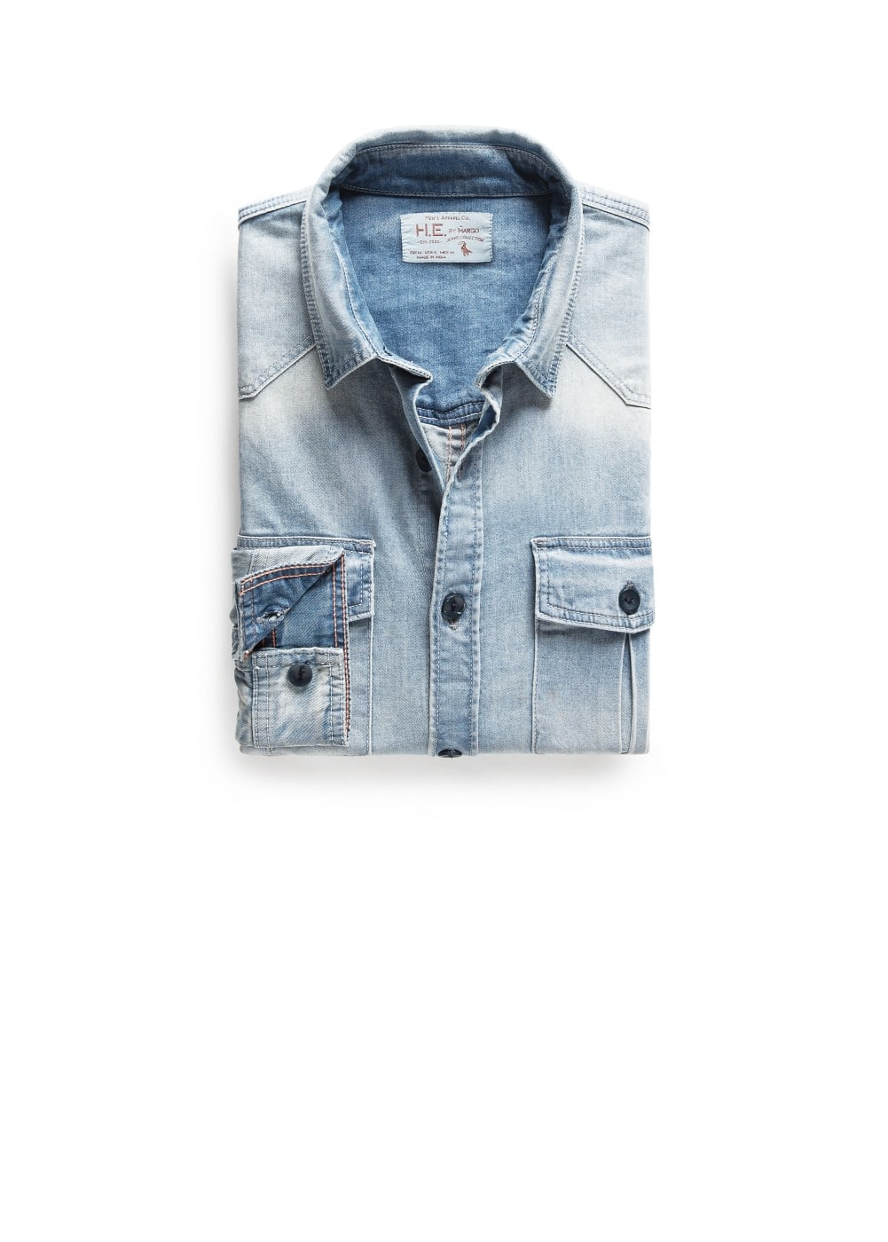 Classic-fit light denim shirt