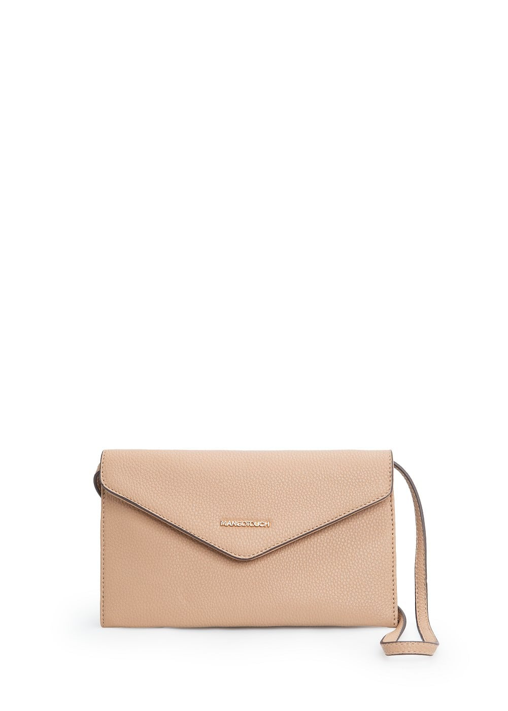 Pebbled envelope bag | MANGO