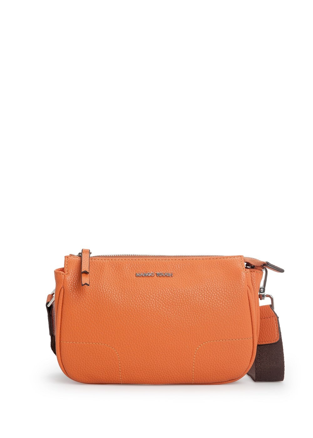 Double compartment cross body bag