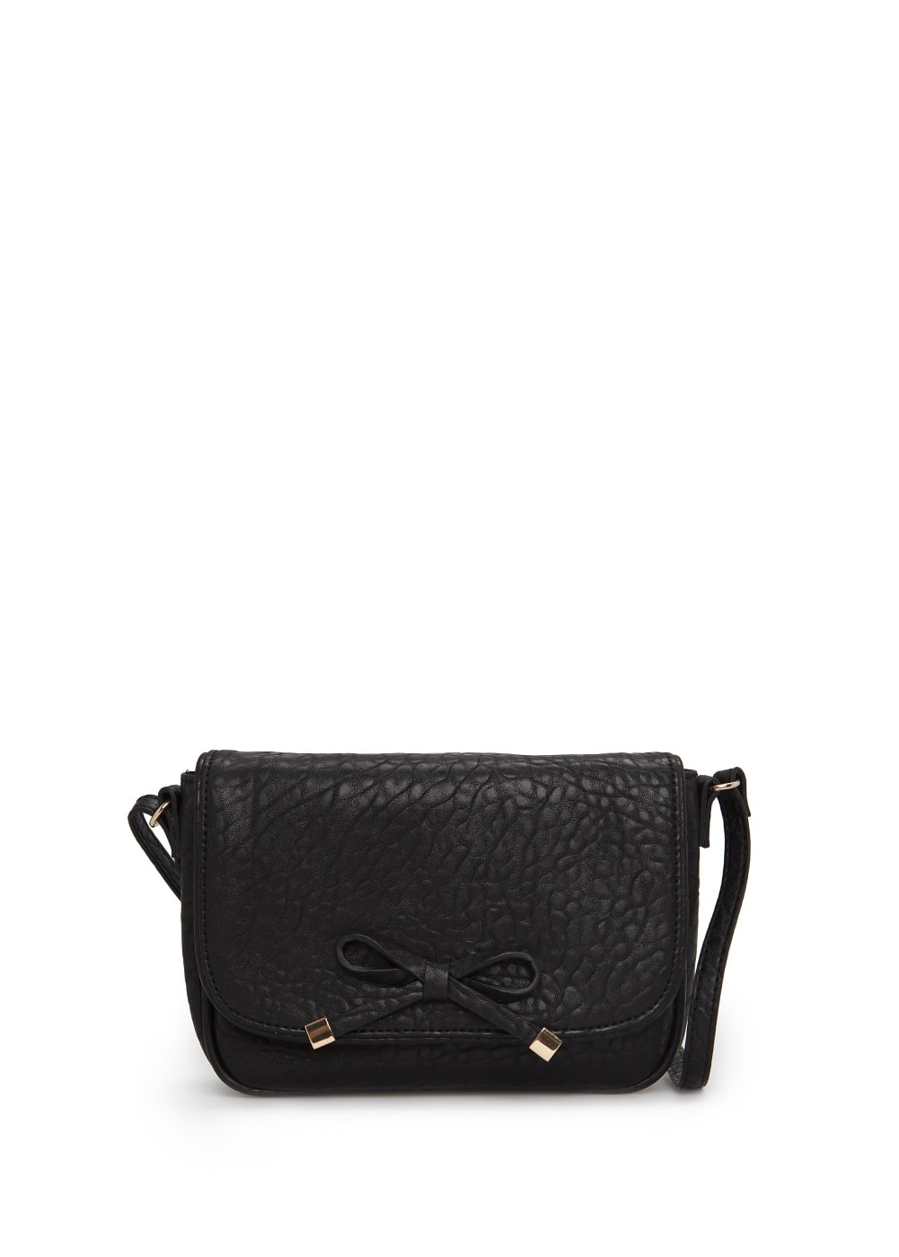 Bow pebbled-effect bag | MANGO