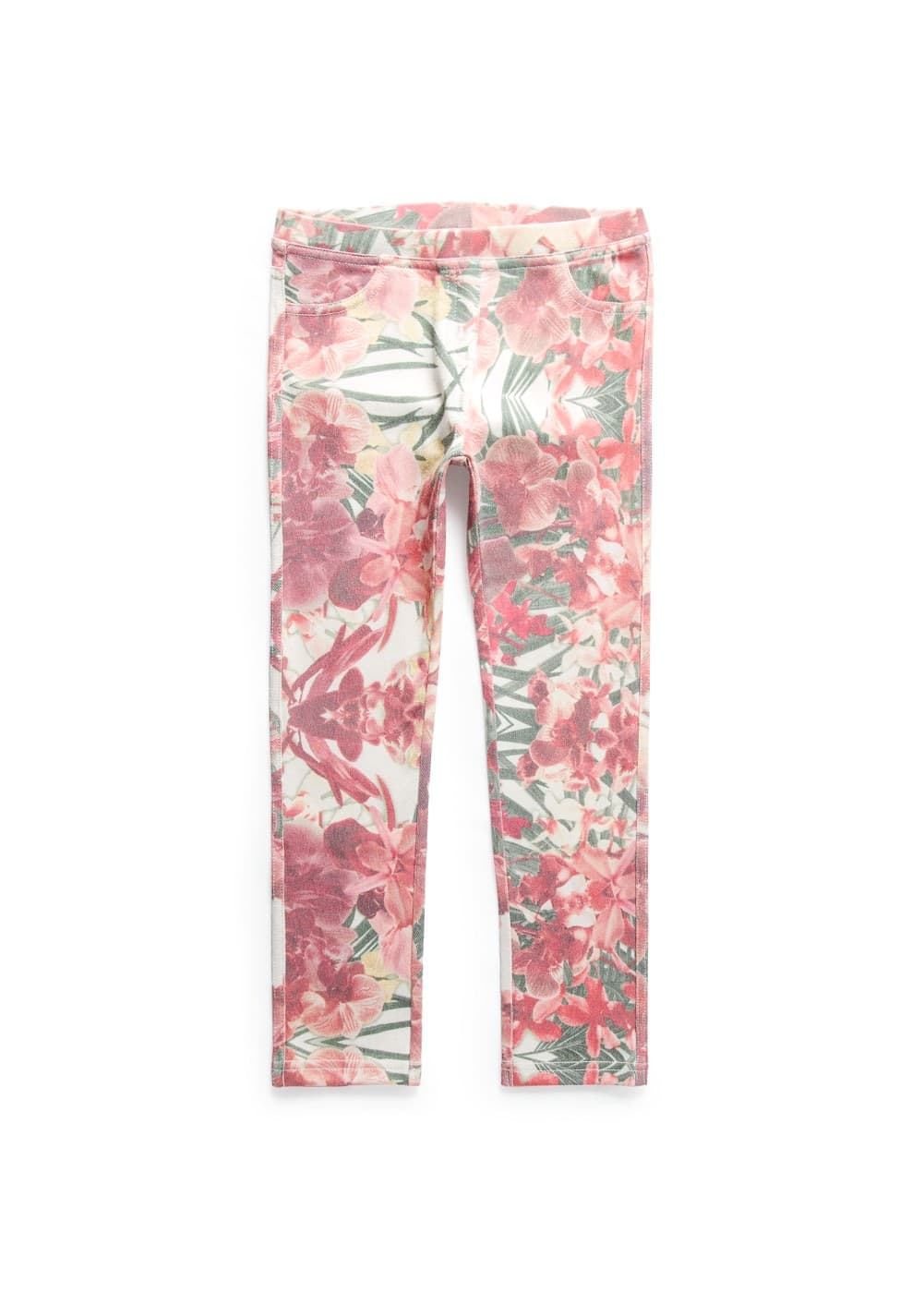 Floral print leggings | MANGO KIDS