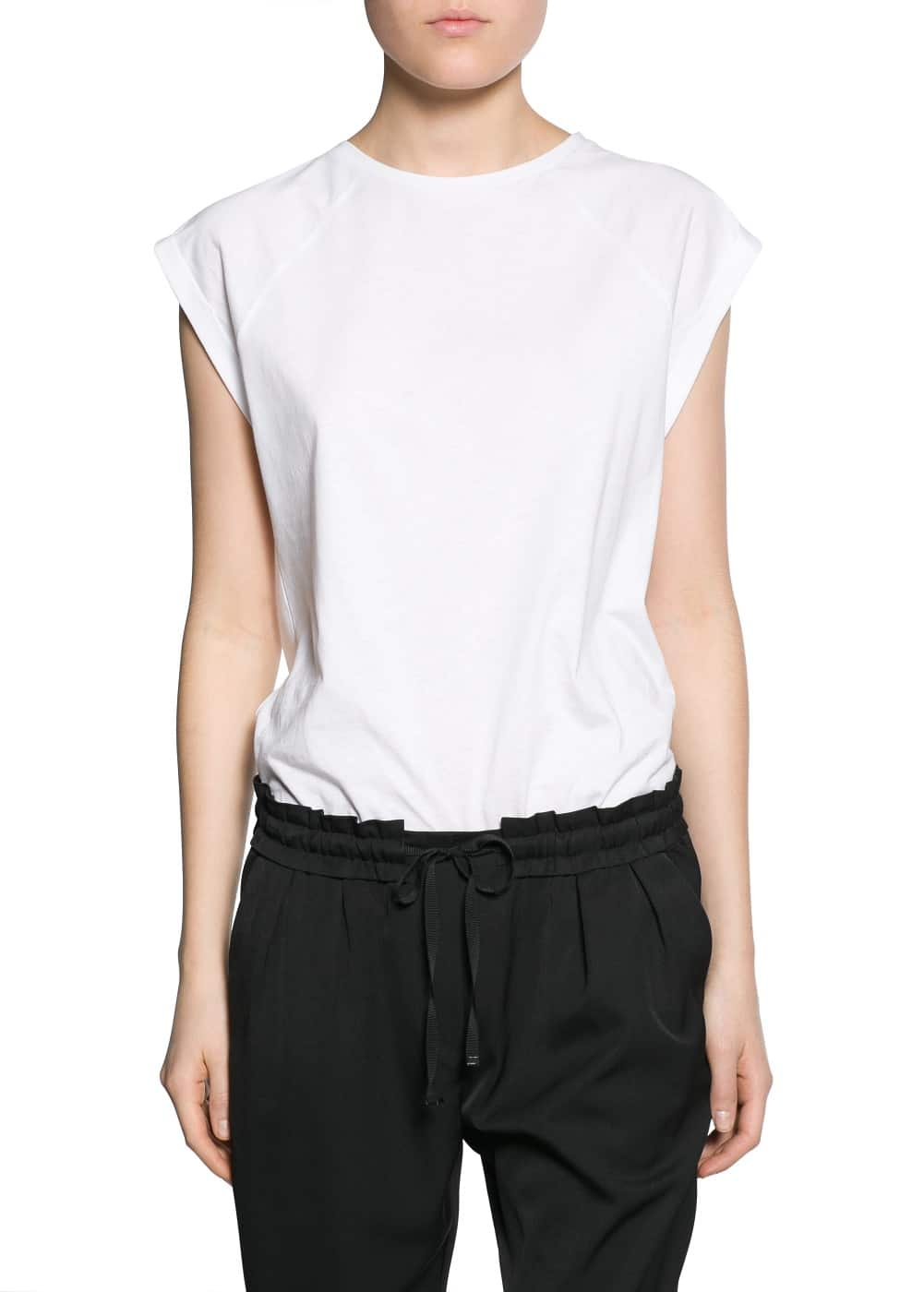 Rolled-up sleeve t-shirt | MANGO