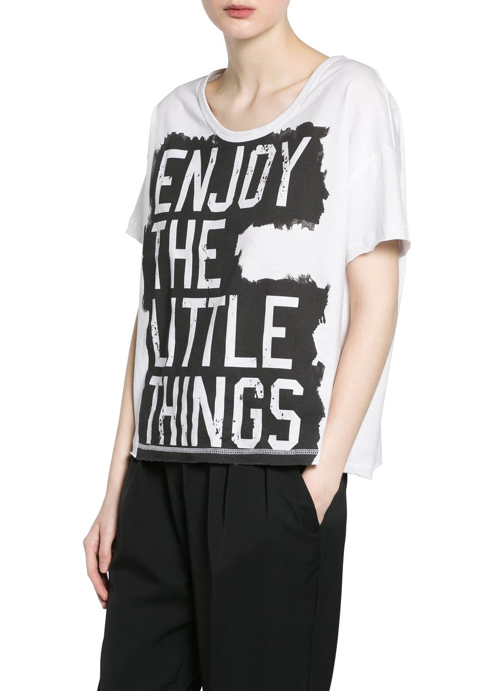 Little things t-shirt | MANGO MAN