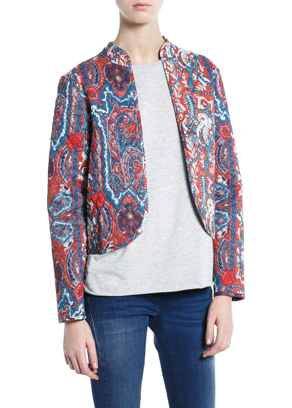 Paisley quilted jacket | MANGO MAN