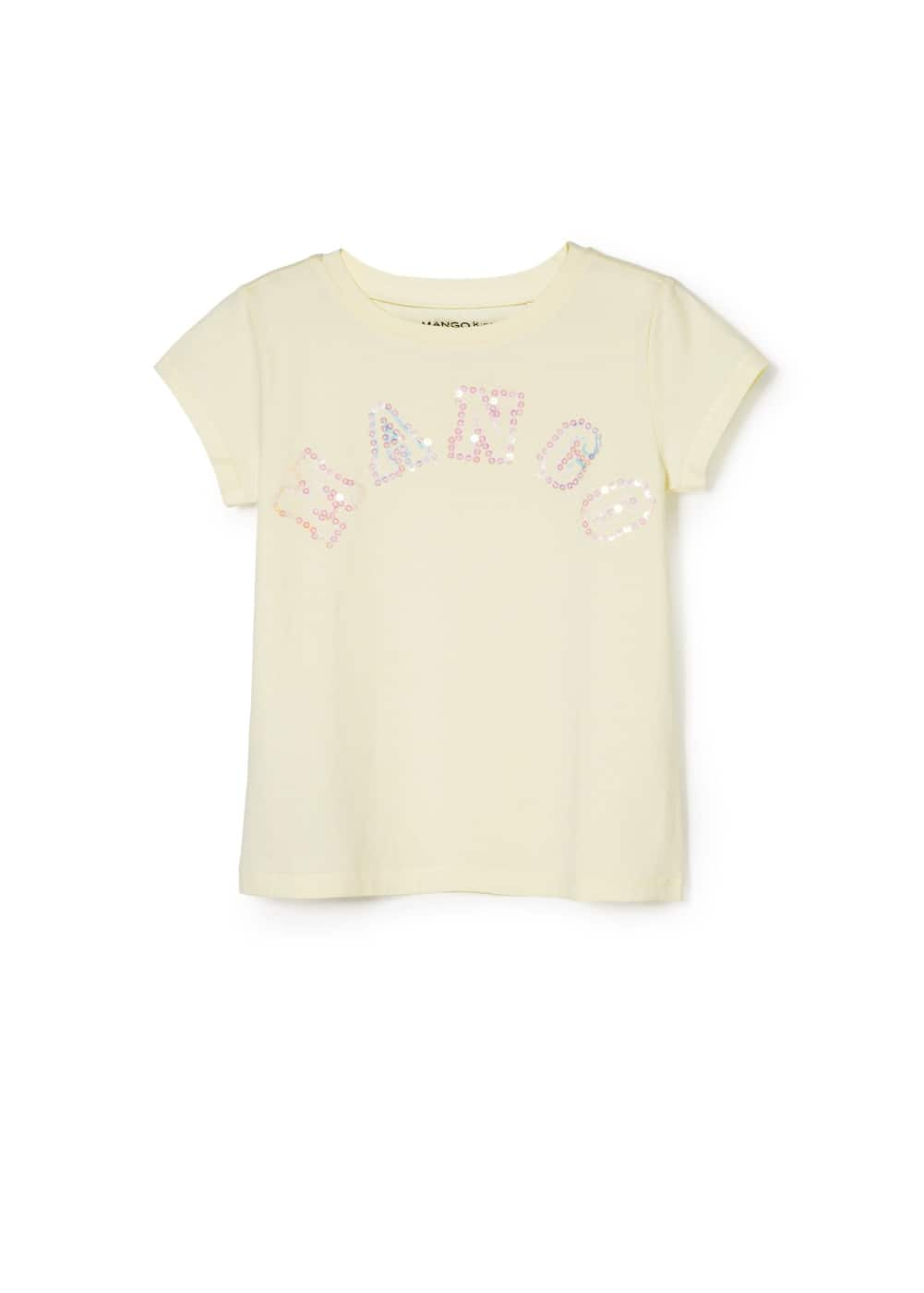 T-shirt logo sequins
