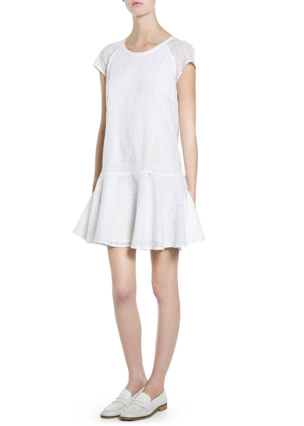 Broderie anglaise dress | MANGO