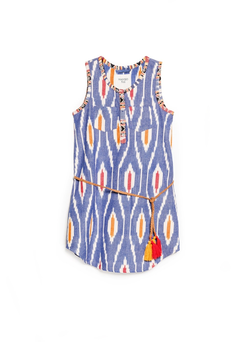 Ikat print dress | MANGO KIDS