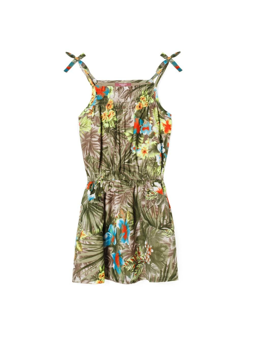 Robe à imprimé tropical