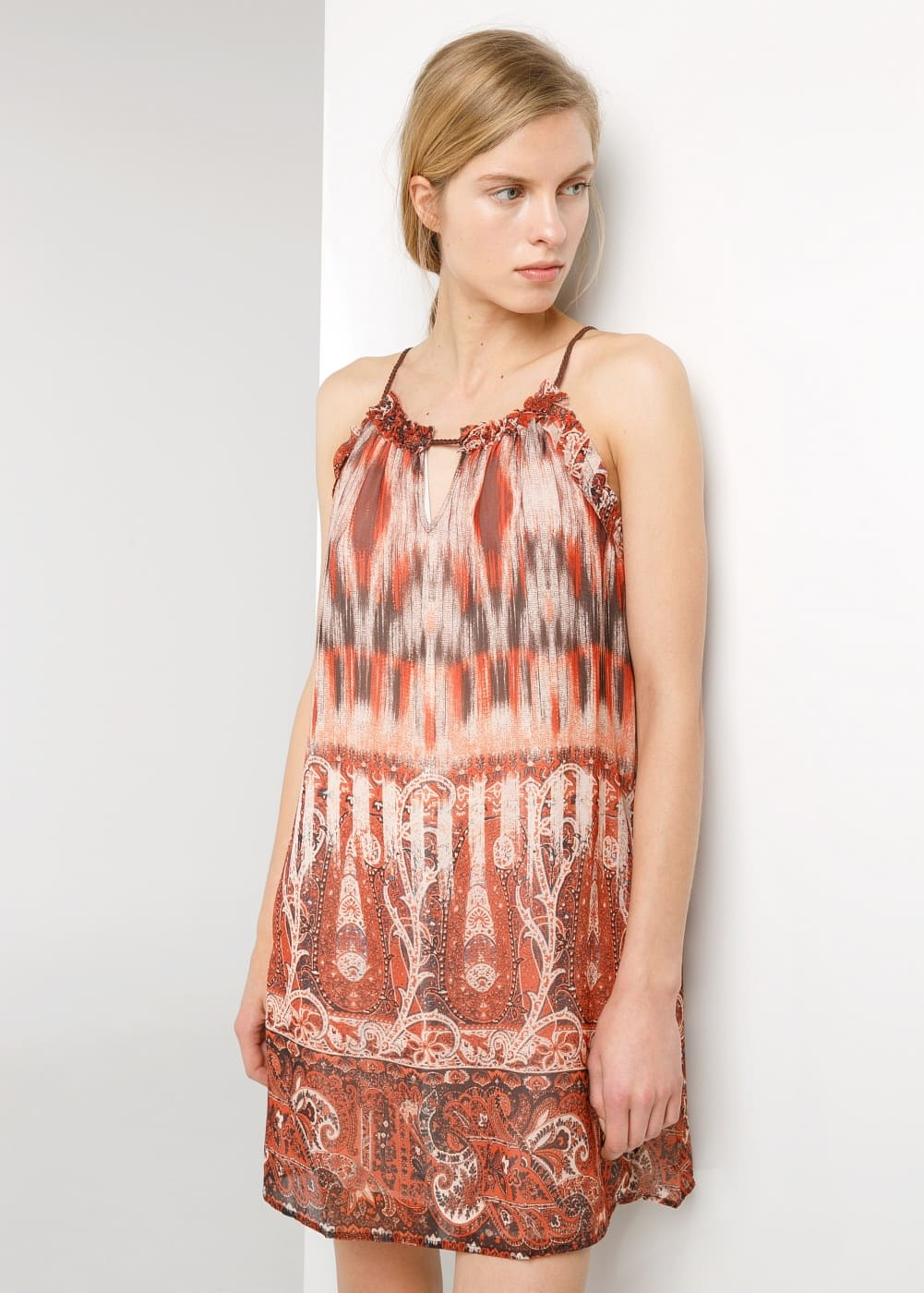 Paisley halter dress | MANGO