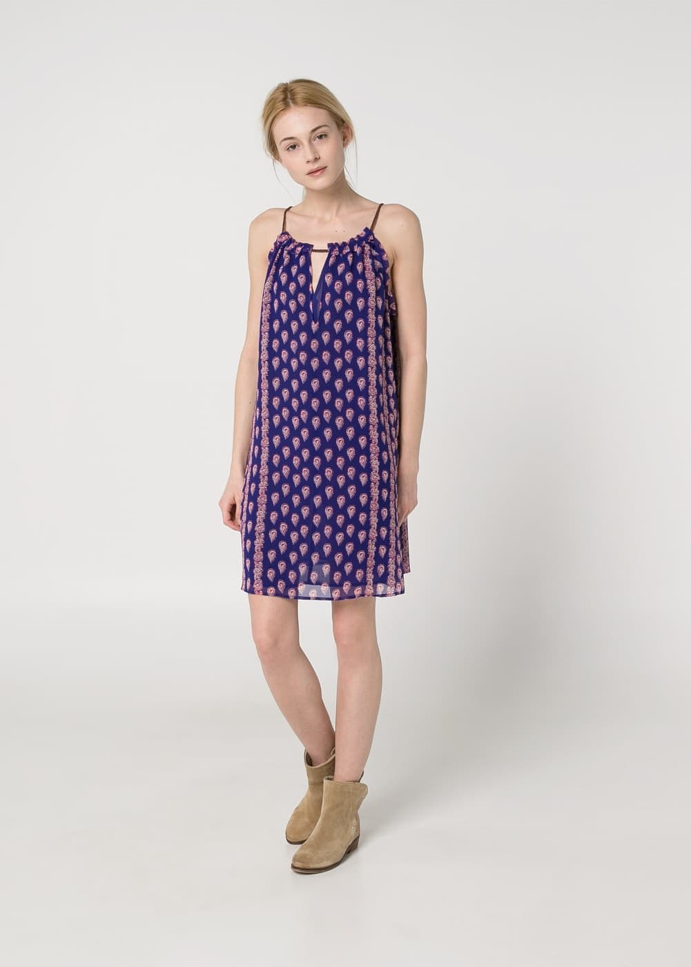 Paisley halter dress