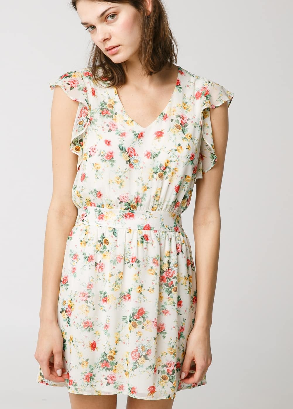 Floral chiffon dress | MANGO