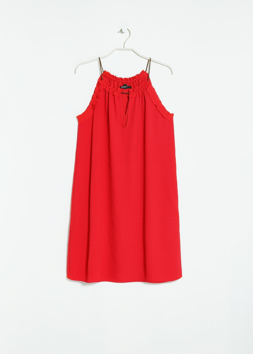 Textured babydoll dress | MANGO