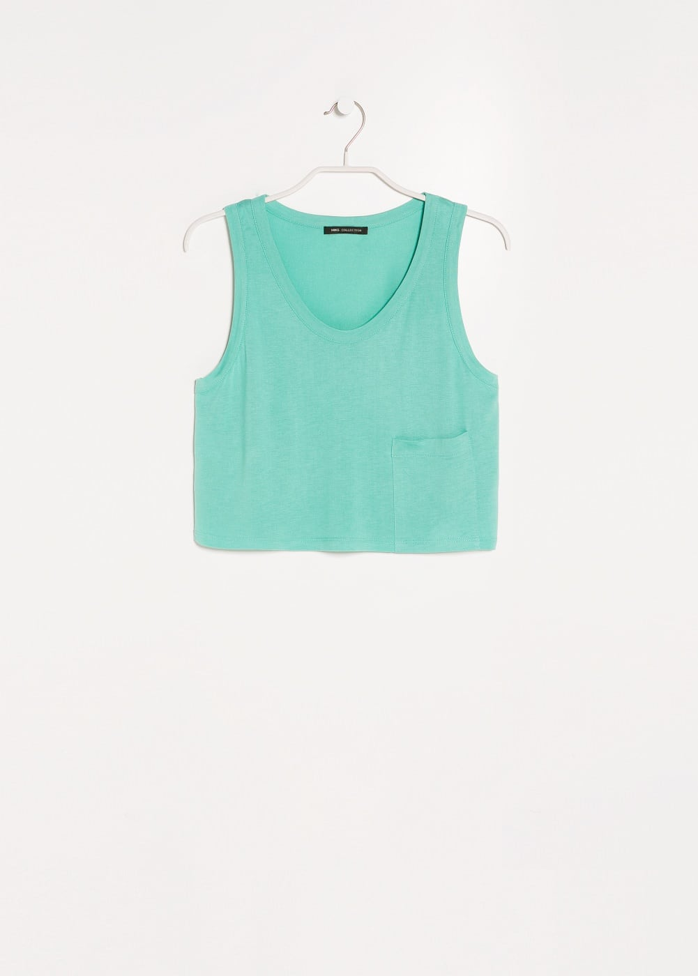Dropped-pocket cropped top