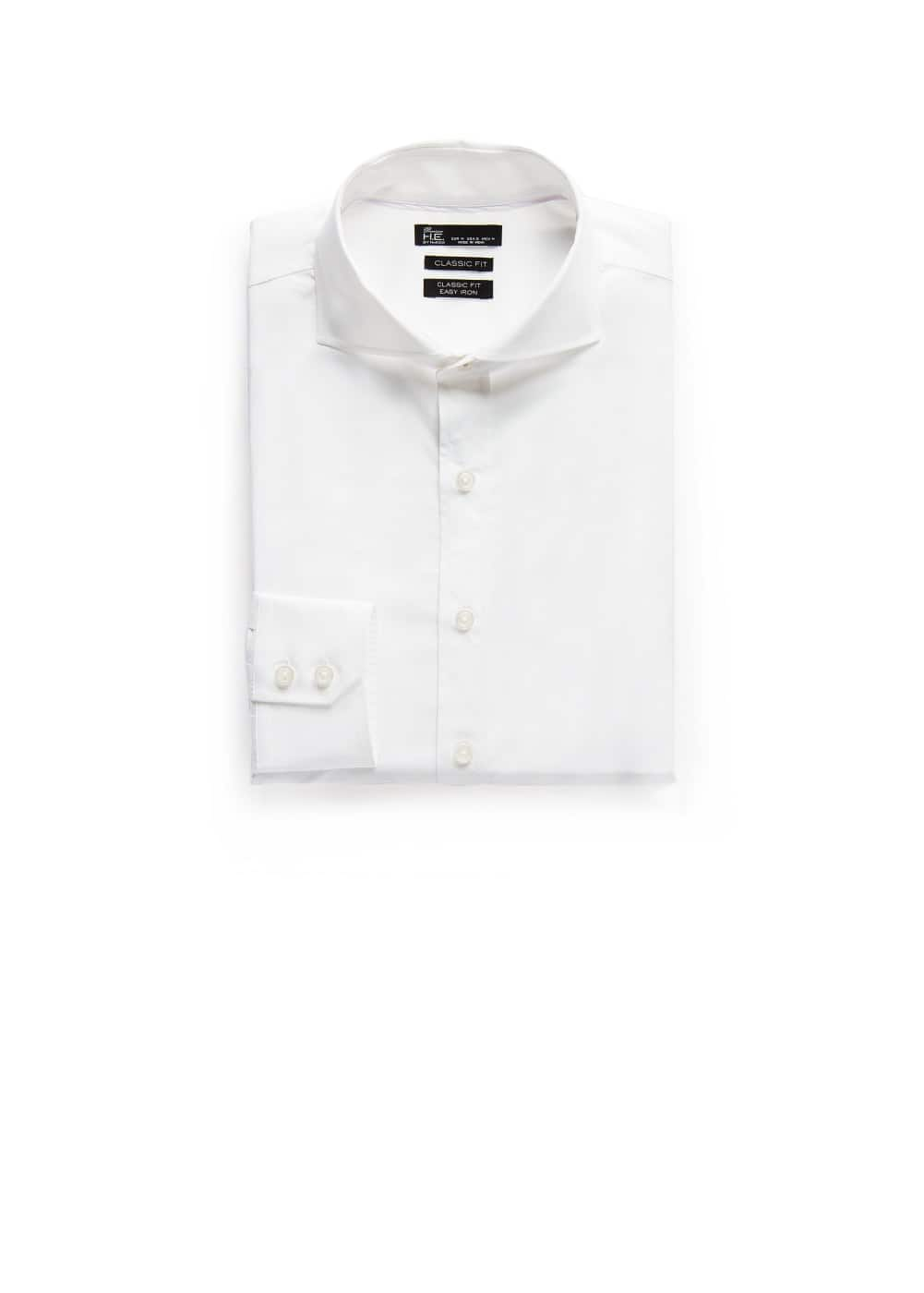 Classic-fit premium cotton shirt | MANGO