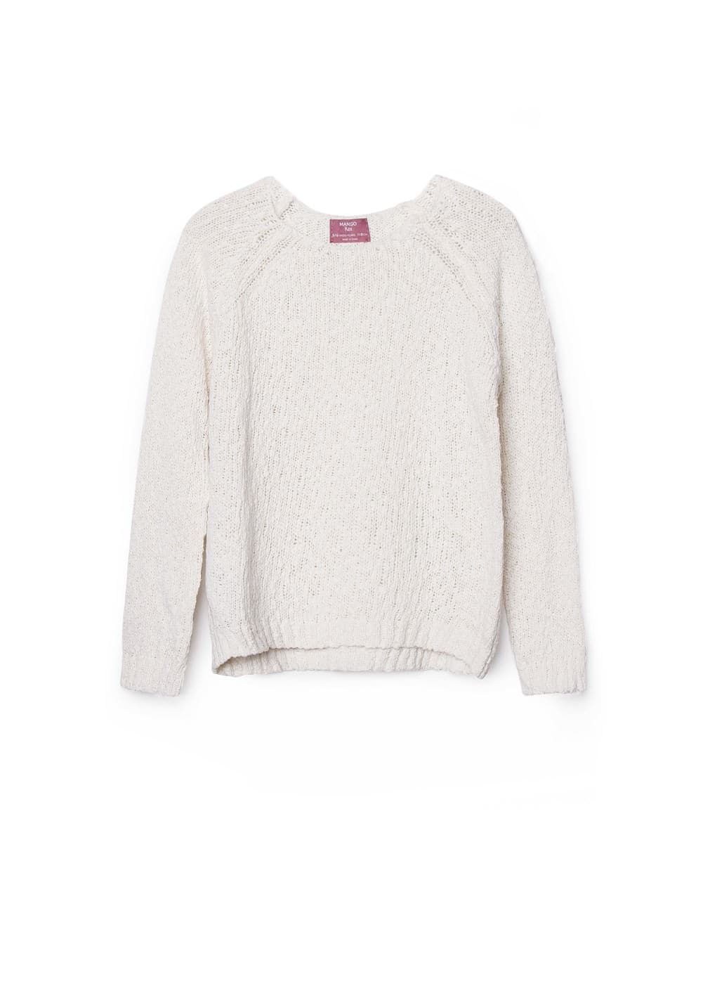 Textured cotton sweater