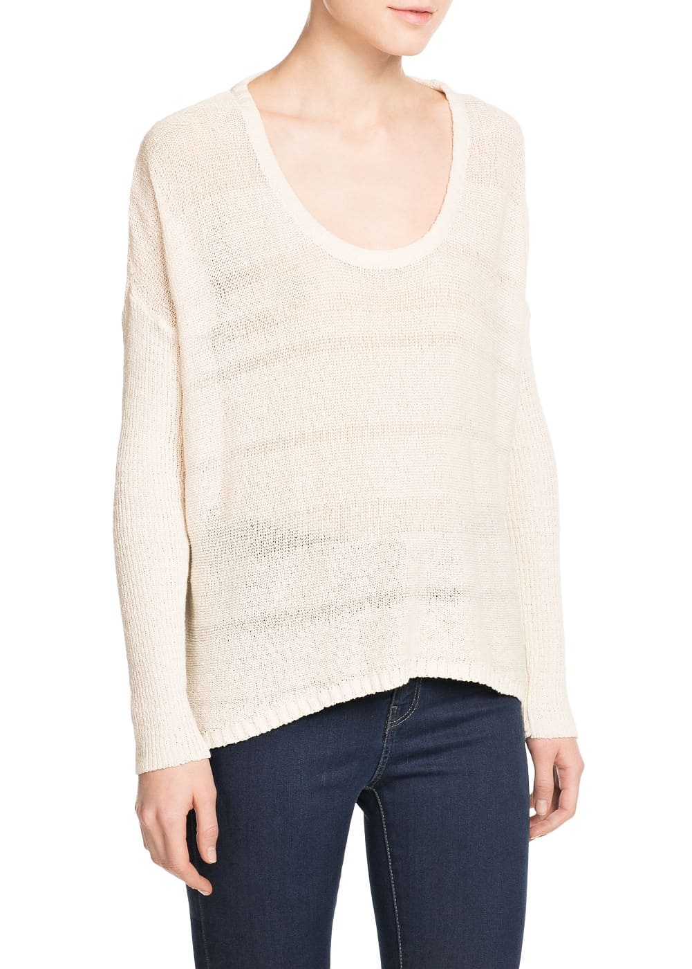 Open-knit fine sweater | MANGO
