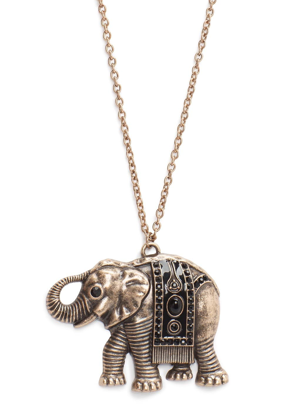 Elephant pendant necklace | MANGO