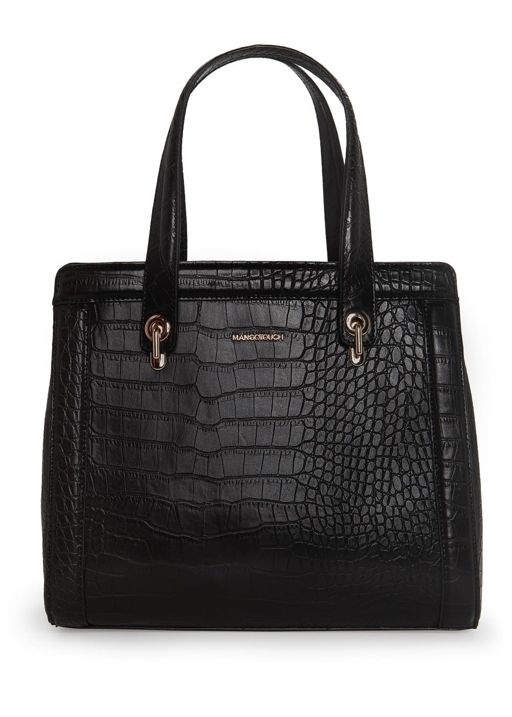 Croc-effect tote bag