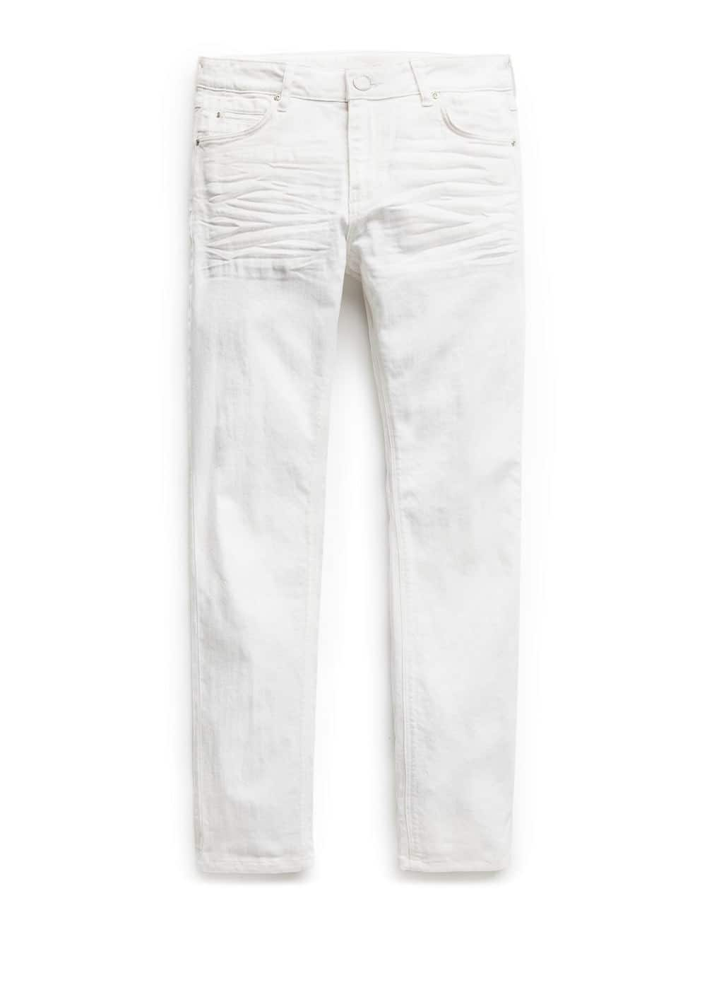 Slim-fit white Alex jeans