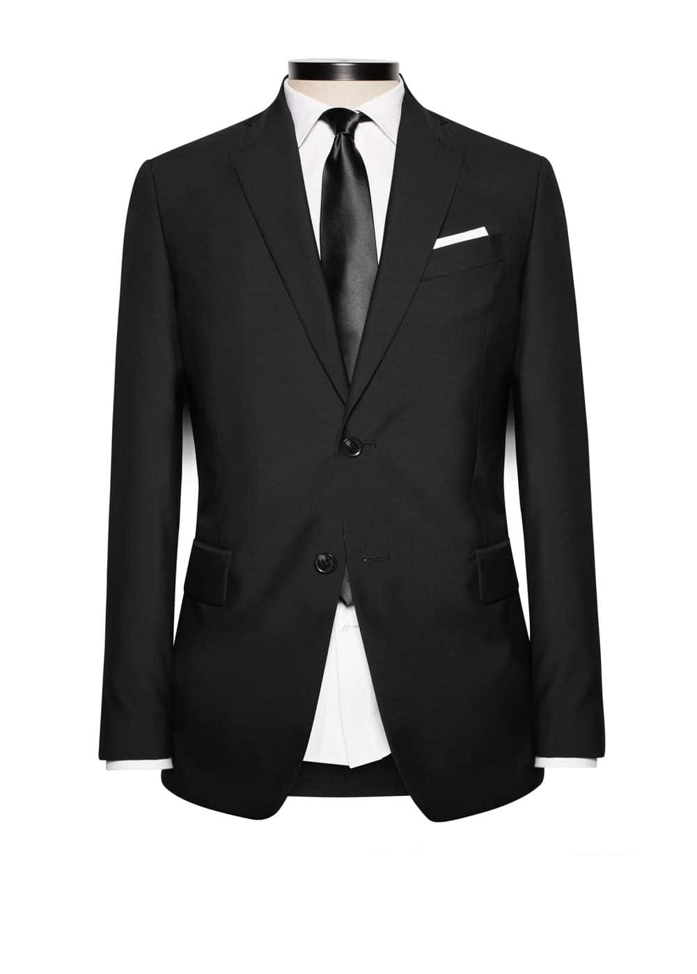 Slim-fit suit blazer