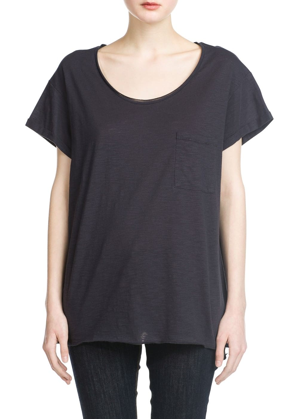 Slub-cotton t-shirt | MANGO