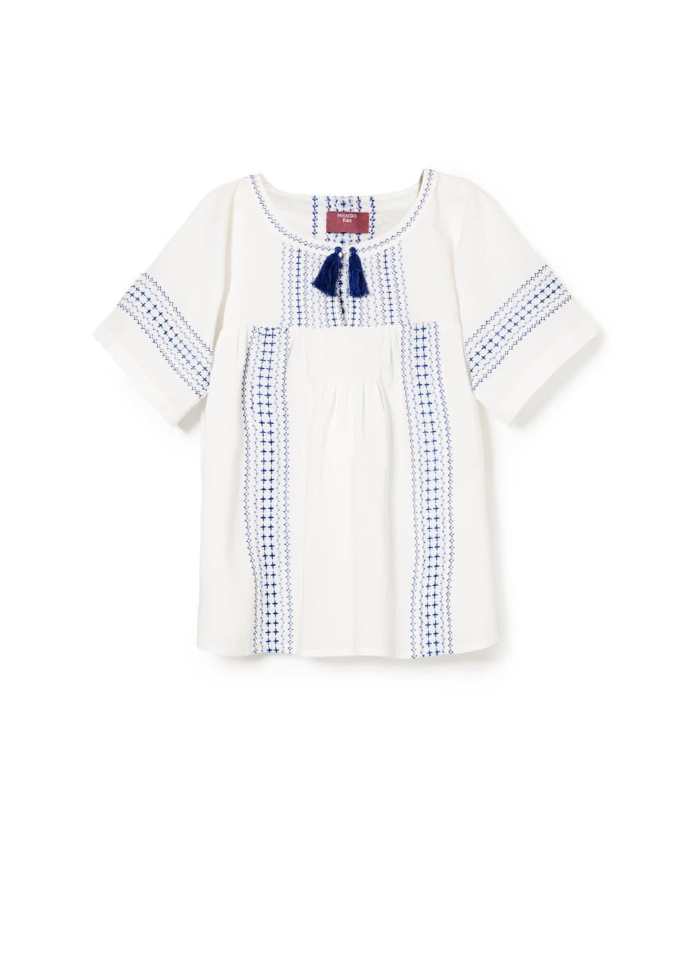 Tassel embroidered blouse | MANGO KIDS
