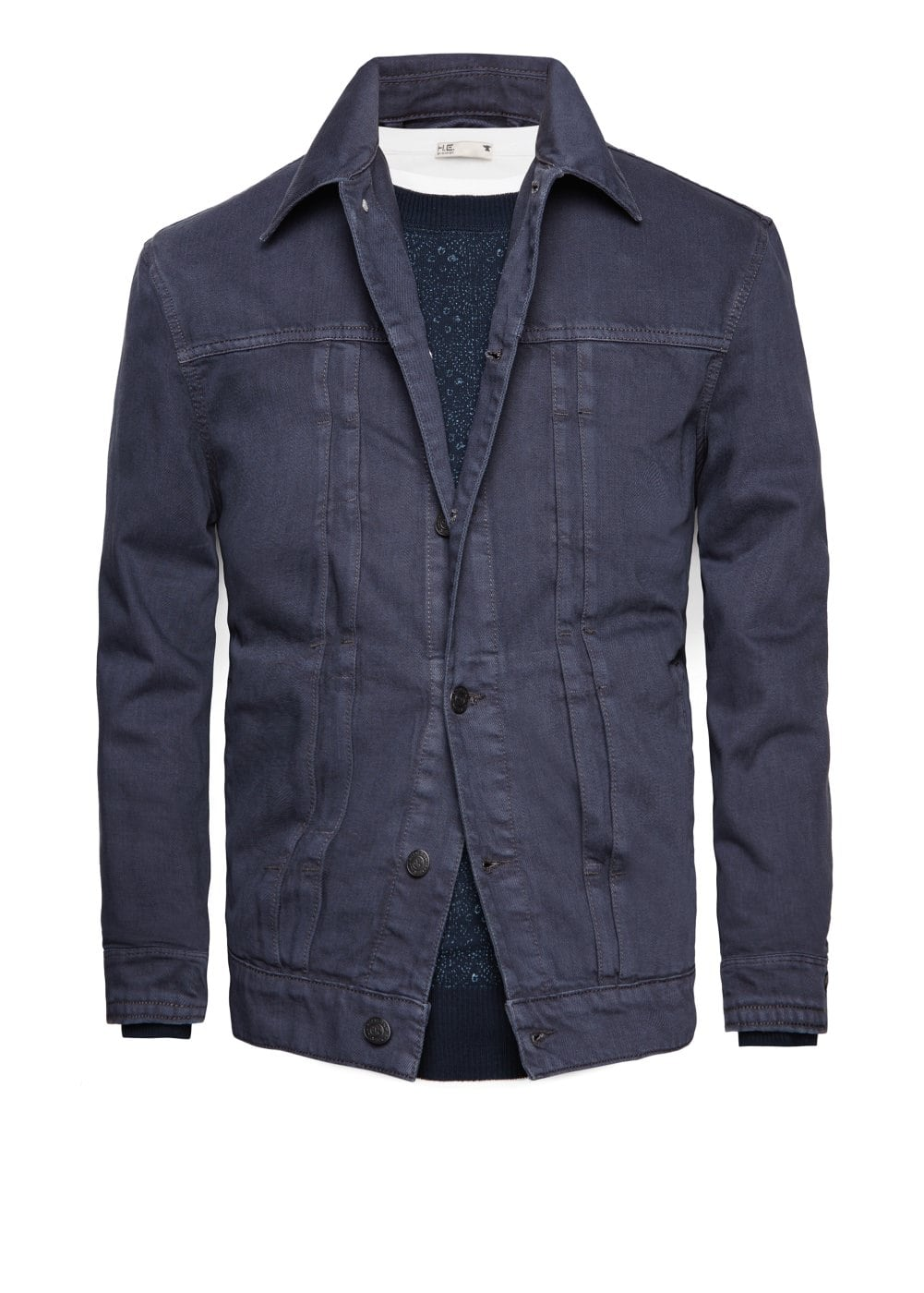 Grey denim jacket | MANGO MAN