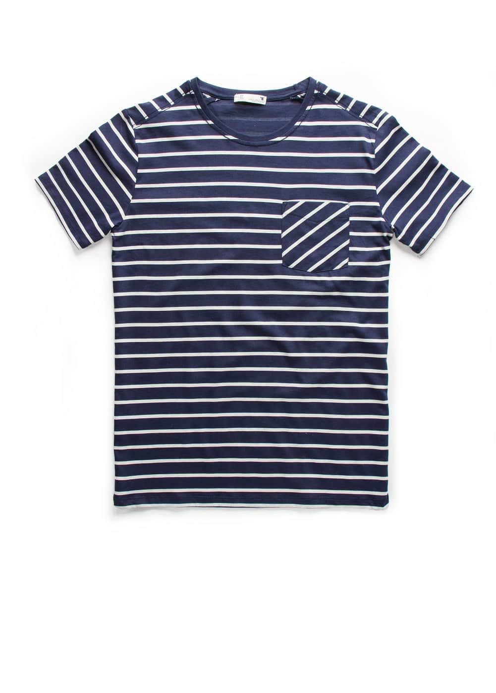 Chest-pocket striped t-shirt | MANGO