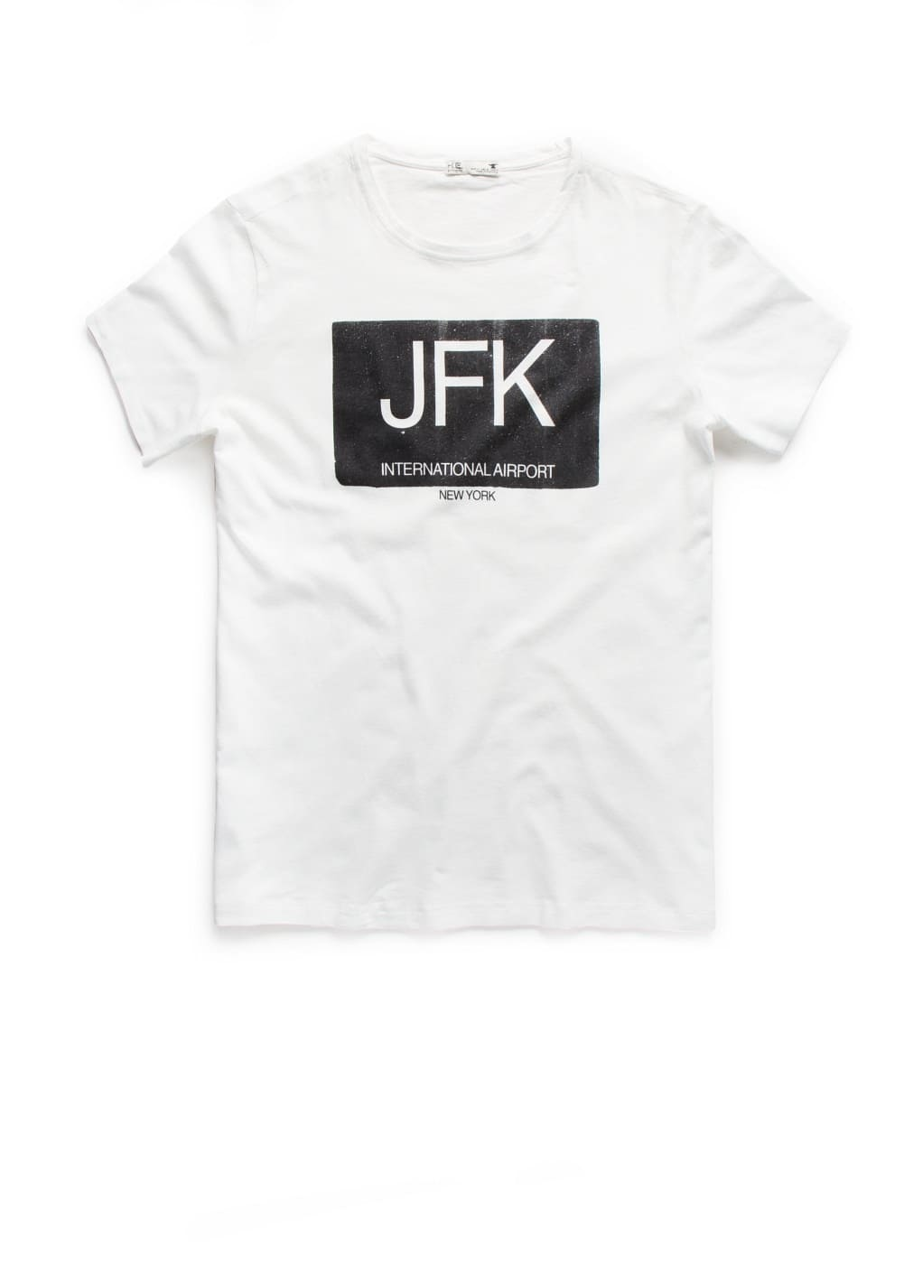 T-shirt estampada jfk | MANGO MAN