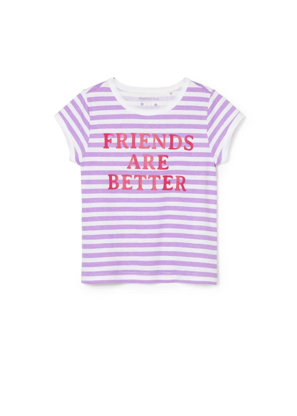 Message striped t-shirt