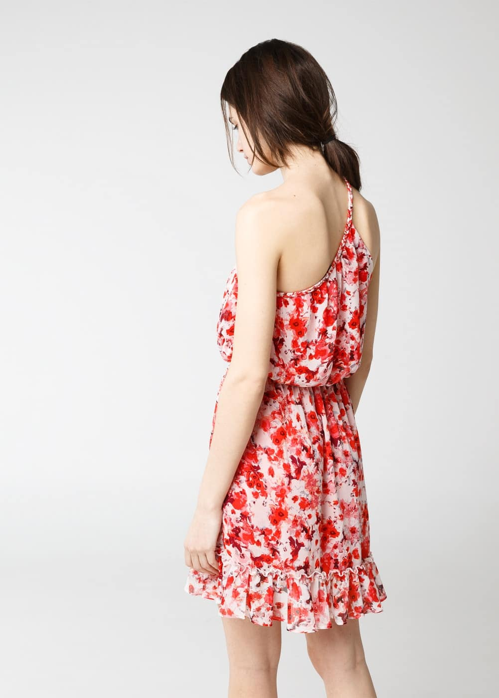 Floral asymmetric dress | MANGO MAN
