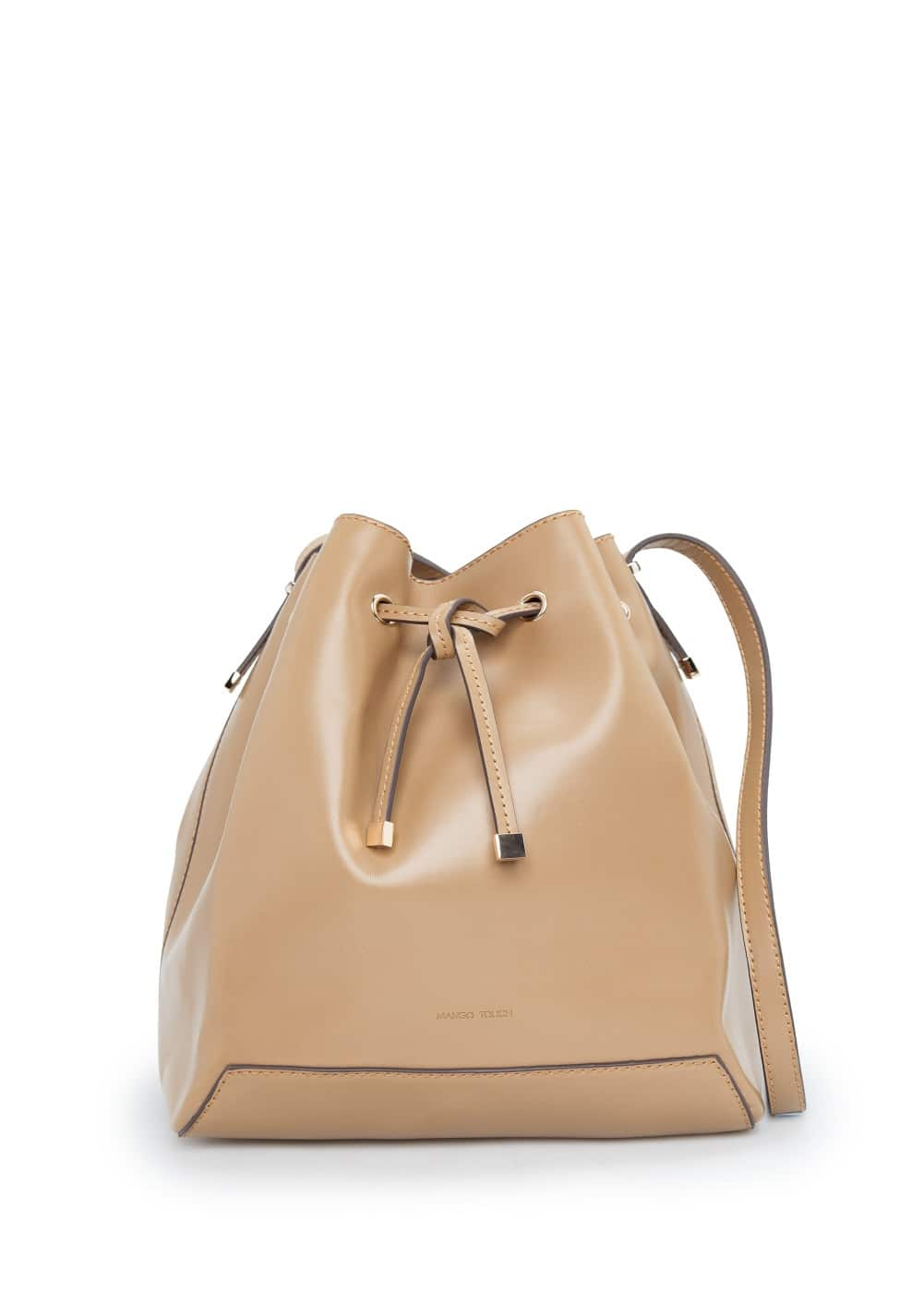 Bucket bag met contrasten