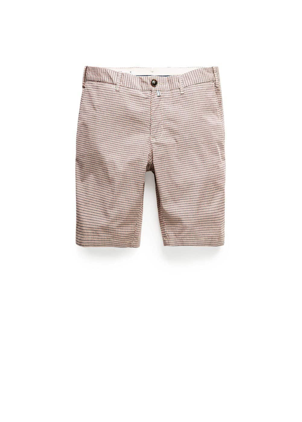Check cotton bermuda shorts