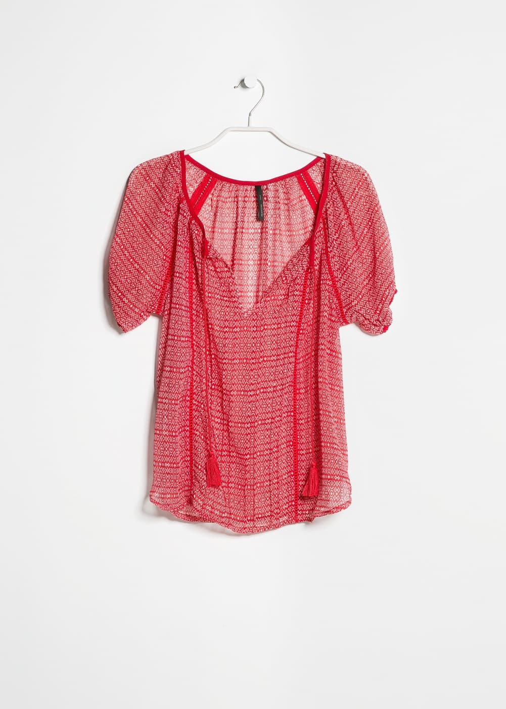 Trimmed ethnic blouse | MANGO