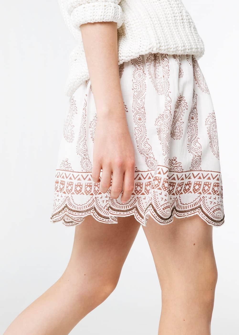 Paisley flared skirt