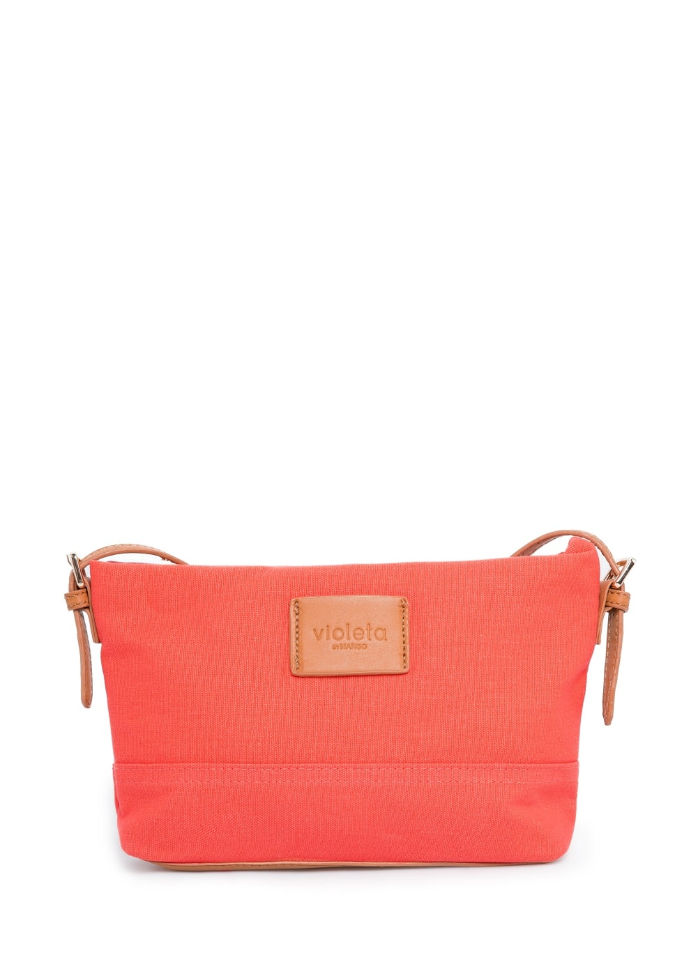Color canvas cross-body bag