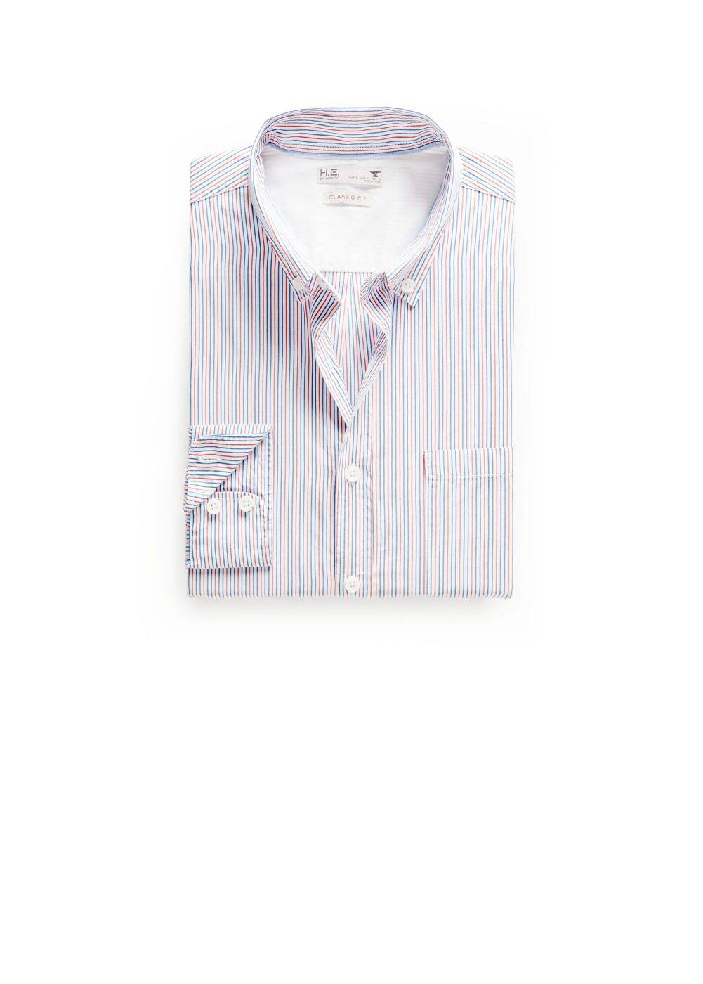 Camisa classic-fit rayas bicolor