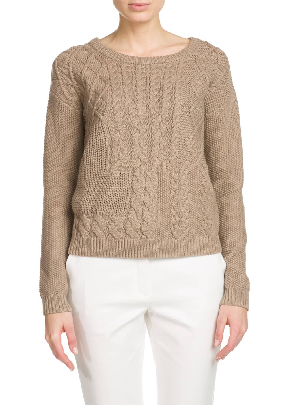 Cable-knit cotton sweater | MANGO