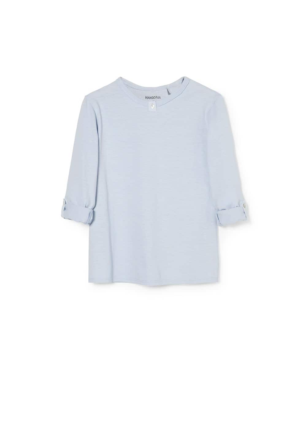 Slub cotton t-shirt | MANGO KIDS