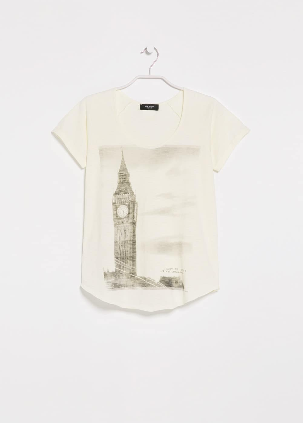 City slub-cotton t-shirt | MANGO