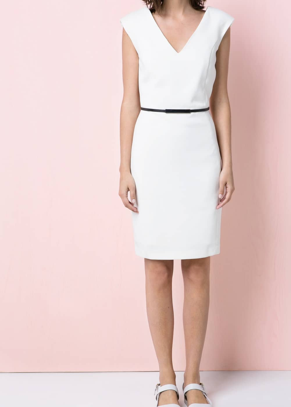Padded shoulder dress | MANGO